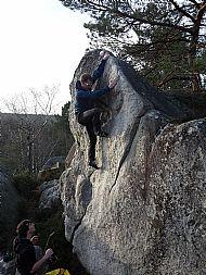 Bouldering at Apremont - Fontainebleau