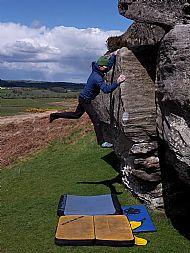 Bouldering at Shaftoe, Northumberland