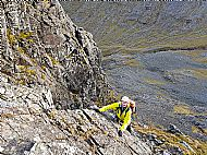 Paul on the lower section of Tower Ridge, Ben Nevis