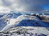 Descending from the summit of Stob Dearg looking across Coire na Tulaich