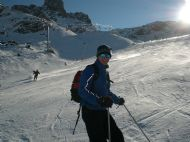 Enjoying the skiing in Val d'Isere