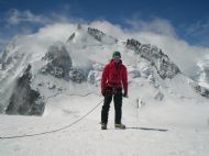 Standing on the shoulder of Mont Blanc Du Tacul