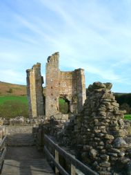 Edlingham Castle - a short distance from Corby's Crag, Northumberland