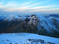 Looking across to Great Gable from the summit of Great End, Lake District