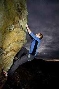 Bouldering at Edlingham, Northumberland