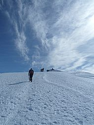 Approaching the summit of Mount Toubkal - Morrocco