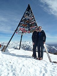 Summit of Mount Toubkal (4167m)