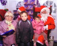 Santas MSP Rob Gibson and MSP Eleanor Scott