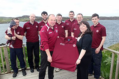 lochs boys modelling new polo shirts