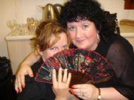 Cathy Ann MacPhee & Kathleen MacInnes at Ceolas 2006.