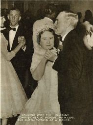 Gervas dancing with the Queen Mother