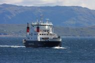 the calmac ferry approaching armadale