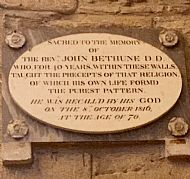 memorial to rev john bethune (dornoch cathedral)