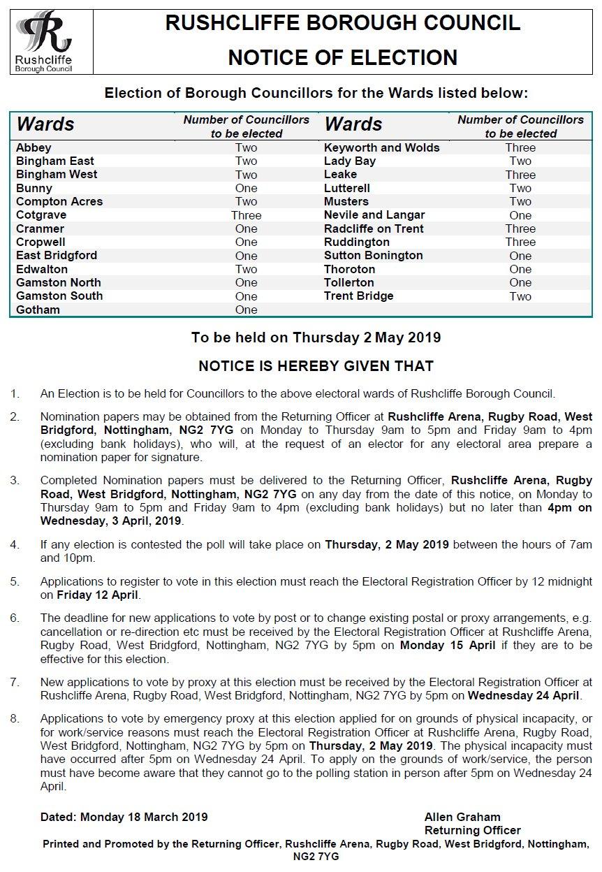 borough council election notice