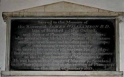 monument to revd james williamson