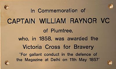 william raynor's memorial plaque