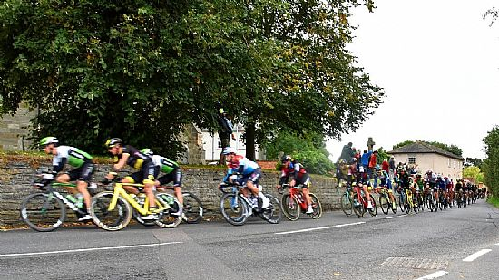tob cyclists passing plumtree church