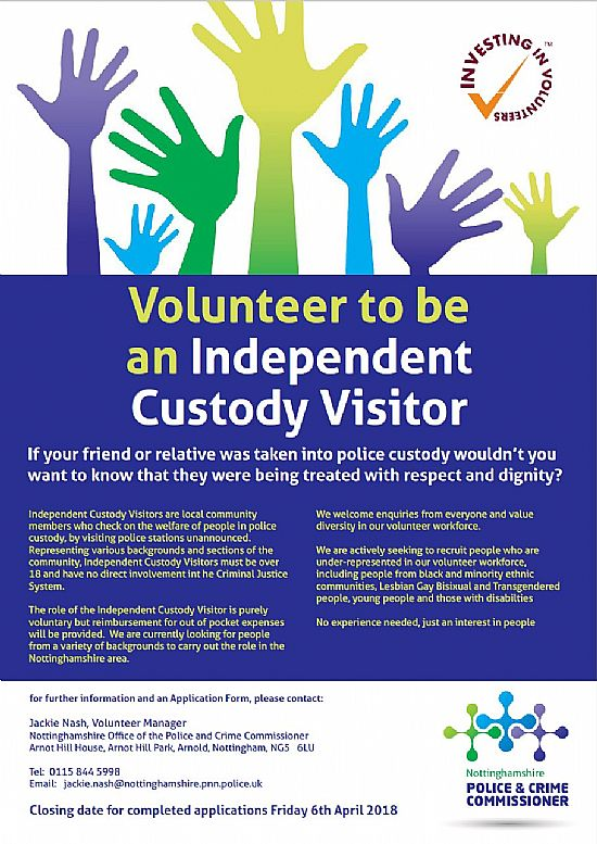 independent custody visiting scheme poster