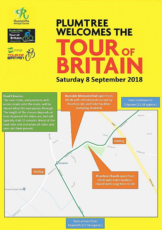 plumtree welcomes the tour of britain
