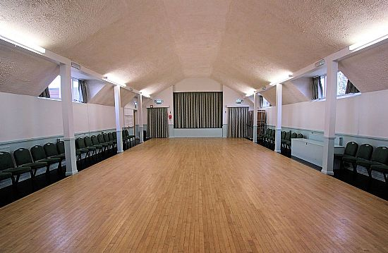 interior of the burnside memorial hall