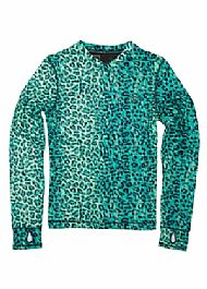 686 WOMENS THERMA BASE TOP LEOPARD