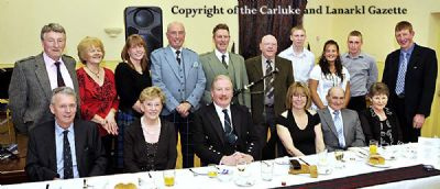 douglas curling club 2009 burns supper - copyright of the carluke & lanark gazette picture by lindsay addison