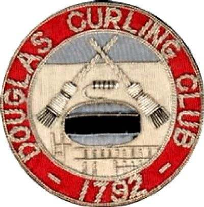 early douglas curling club blazer badge