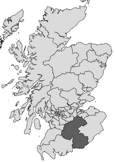 dumfriesshire clydesdale and tweeddale constituency on scotland map