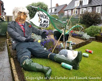 frank mcmillan's scarecrow - copyright of the carluke & lanark gazette
