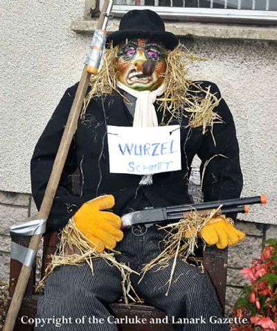 jim smith's scarecrow - copyright of the carluke & lanark gazette
