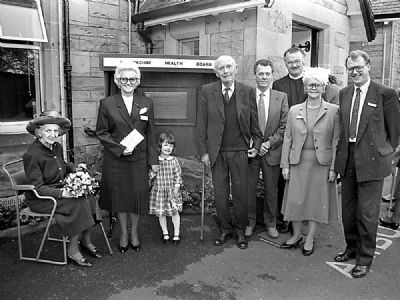 centenary plaque unveiling at lady home hospital 1989 by lord and lady home - � of lindsay addison