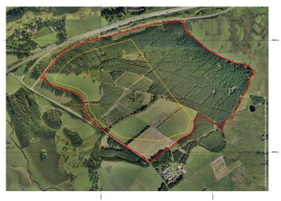 site boundary ariel photo' of the proposed mainshill wood open cast coal site 