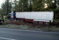 HGV RTI on A70 at road entrance to Carmichael near Hyndford Bridge