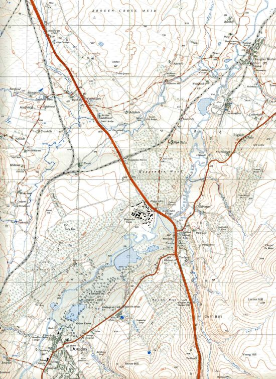 douglas - douglas water valley 1964 map (section)