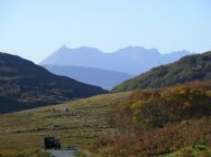 The road to Ord with the Cuillin behind