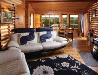 relax in the lodges with stunning interiors