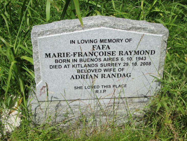 Marie-Francoise (Raymond) Randag.