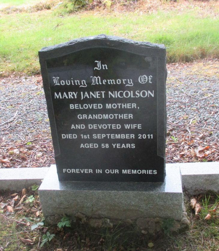Mary Janet Nicolson.